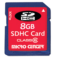 Micro Center 8GB Class 4 Secure Digital High Capacity (SDHC) Flash Media Card