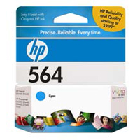 HP HP 564 Cyan Ink Cartridge (CB318WN)