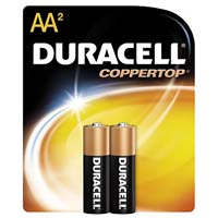 Duracell AA Alkaline Battery 2 Pack