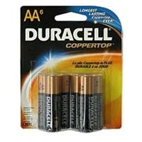 Duracell AA Alkaline Battery 6-Pack