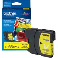 Brother LC65HY-Y High Yield Yellow Ink Cartridge