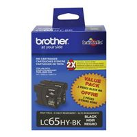 Brother LC652PKS High Yield Black Ink Cartridge 2-Pack