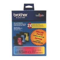 Brother LC653PKS High Yield Color Ink Cartridge 3-Pack