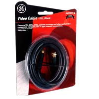 GE 6 ft. RG59 Coaxial Cable Black