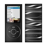 Belkin iPod nano 4G Sonic Wave Two-Tone Silicone Sleeve Black/White
