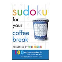 World Publications Sudoku for Your Coffee Break Presented by Will Shortz:  100 Wordless Crossword Puzzles
