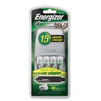Energizer 15 Minute AA/AAA NiMH Battery Charger 4 Pack
