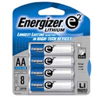 Energizer Lithium AA Battery 8 Pack