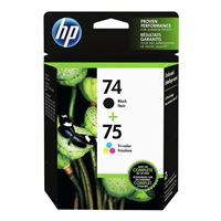 HP 74/75 Black/Tri-color Ink Cartridge (CC659FN) 2-Pack