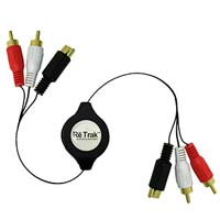 Emerge 5 ft. Retractable Male to Male S-Video/RCA Audio Cable