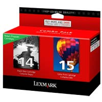 Lexmark 18C2239 #14/#15 Black/Color Return Program Ink Cartridge