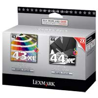 Lexmark 18Y0100 #43XL/#44XL Color/Black Ink Cartridge Combo Pack