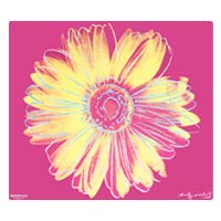 Microthin Products Hot Pink Daisy by Warhol Mouse Pad