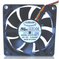 Cooljag EVERFLOW DC Fan - 70mm SMART FAN w/build-in sensor