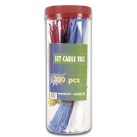 Velleman 300 Piece Cable Tie Set with Plastic Container