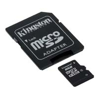 Kingston 8GB Class 4 Micro Secure Digital High Capacity (Micro SDHC) Flash Media Card with SD Adapter