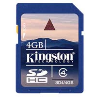 Kingston 4GB Class 4 Secure Digital High Capacity (SDHC) Flash Memory Card SD4/4GB
