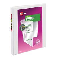 "Avery Durable View Binder with 1/2"" EZ-Turn Ring White"