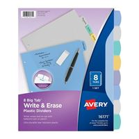 Avery Translucent Durable Write-On Plastic Dividers 8-Tab Set