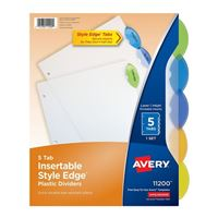 Avery Style Edge Insertable Plastic Dividers 5-Tab Set