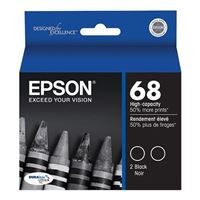 Epson 68 Black Ink Cartridge Dual-Pack