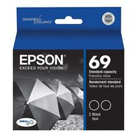 Epson 69 Black Ink Cartridge 2-Pack