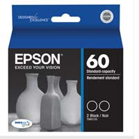 Epson 60 Black Ink Cartridge 2-Pack