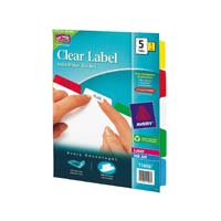 Avery Index Maker® Clear Label Dividers 5-Tab Set