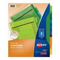 Avery Big Tab Insertable Plastic Dividers 8-Tab Set