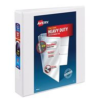 "Avery Heavy-Duty View Binder with 1-1/2"" One Touch EZD Ring White"