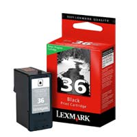 Lexmark 18C2130 #36 Black Return Program Ink Cartridge