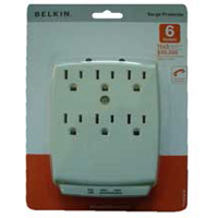 Belkin 6 Outlet SurgeMaster Home Series Surge Protector 1045 Joules with Phone/Fax Protection - White