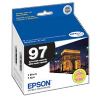 Epson T097120-D2 Black Ink Cartridge Dual Pack