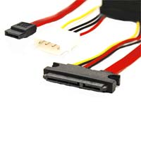 "Bytecc 18"" Sata and Slim Sata Power 7+6pin Cable, for Sata Slim OD"