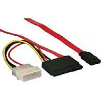 "Evercool 18"" SATA / 4pin Molex with 15pin Power Adaptor - Red"