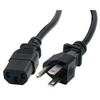 StarTech 10ft Standard Power Cord / Cable for Computers, Monitors and Peripherals - Black