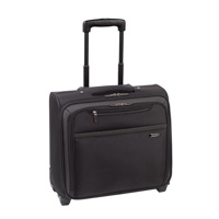 "SOLO Rolling Overnighter Notebook Briefcase Fits Screen up to 16"" Black"