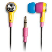ifrogz EarPollution Ozone - Pink/Yellow