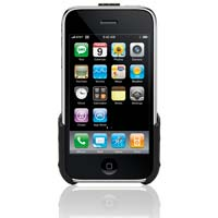 Griffin Elan Clip for iPhone 3G + iPhone 3GS - Black, Hard-shell leather clip