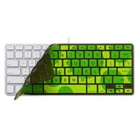 iSkin Inc ProTouch Vibes Keyboard Protector with Microban Antimicrobial product protection with printed circle pattern for Apple Aluminum Wired/Wireless Keyboard - Green (Dragonfly)