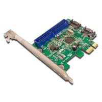 SIIG Dual Port SATA 6Gb/s Single Channel PATA (IDE) PCIe x1 Low Profile Controller Card