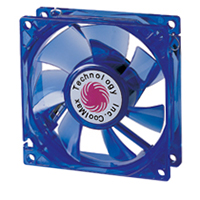 Coolmax CMF-1225-BL 120mm UV Crystal LED Cooling Case Fan - Blue