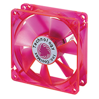 Coolmax 80mm CMF-825-RD  UV Crystal LED Cooling Case Fan - Red