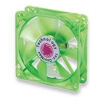 Coolmax 120mm CMF-1225-GN UV Crystal LED Cooling Case Fan - Green
