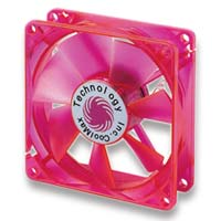 Coolmax 120mm CMF-1225-RD  UV Crystal LED Cooling Case Fan - RED