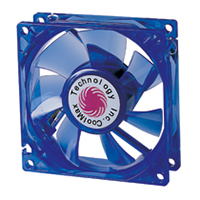 Coolmax 80mm CMF-825-BL UV Crystal LED Cooling Case Fan - BLUE