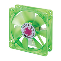 Coolmax 80mm CMF-825-GN UV Crystal LED Case Fan - Green