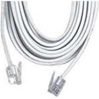 GE Phone Line Cord White 50'