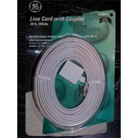 GE Phone Line Cord with Coupler, White