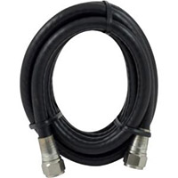 GE Shielded Quad RG-6 Coax Cable 12ft. Black